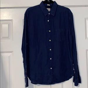 JCrew Navy men's linen shirt